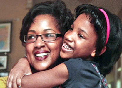 Traci Lucien and her daughter