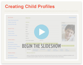 Creating Child Profiles Slideshow