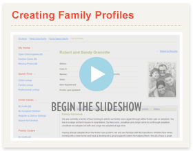 Creating Family Profiles Slideshow