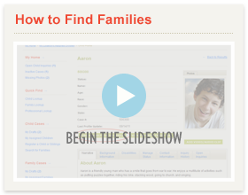 Finding Families Slideshow