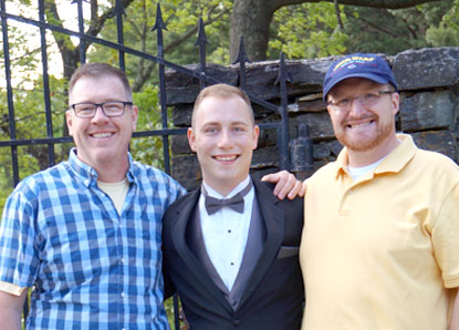 Adoptive parents David Earp and Joel Guinn